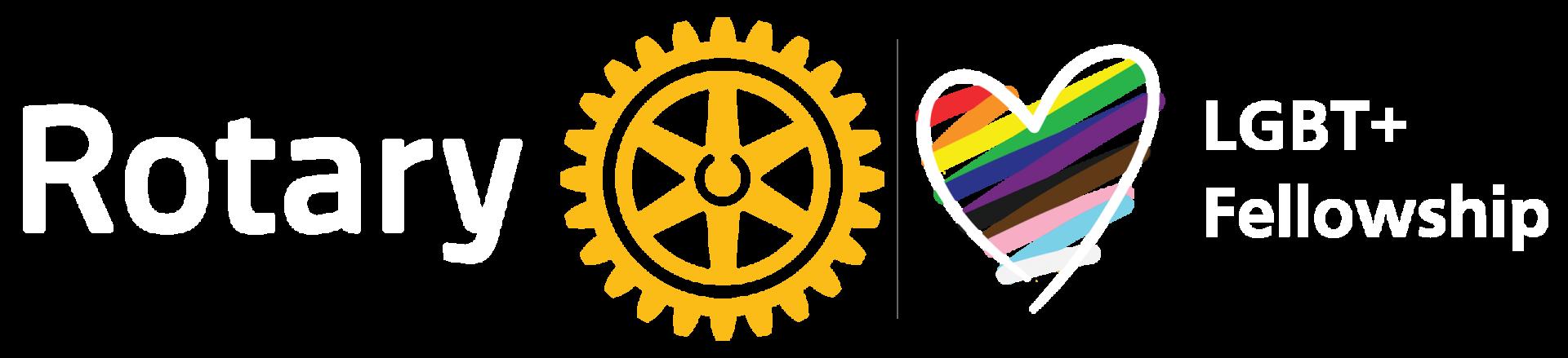 Rotary logo and LGBT+ Fellowship logo