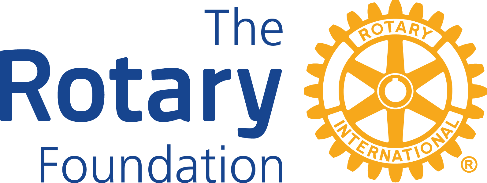 """The Rotary Foundation (Logo is Rotary Mark of Excellence, yellow gear with words """"Rotary International"""")"""